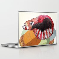 panda Laptop & iPad Skins featuring Red Panda by Sandra Dieckmann