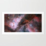 Art Print featuring Eta Carinae Nebula by Chateau Partay
