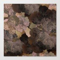 vintage floral shades Canvas Print
