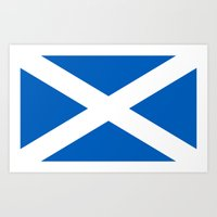 Flag Of Scotland - High … Art Print