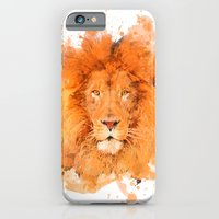 iPhone & iPod Case featuring Splatter Lion by Sarah Sutherland