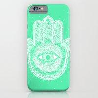 Hamsa lucky green iPhone 6 Slim Case