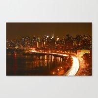 New York City Night Skyl… Canvas Print