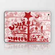 CHRISTMAS TREE Red ITINE… Laptop & iPad Skin