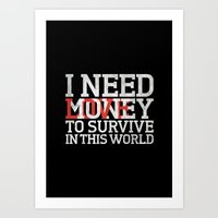 Money & Love Art Print