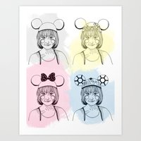 Mouse Ears Art Print