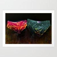 pants on fire Art Print