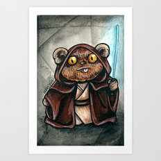 Ewok Jedi Art Print