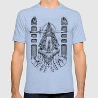 Vagamid - Lord of Fish Mens Fitted Tee Tri-Blue SMALL