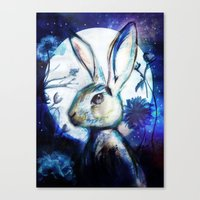 Moonlight Rabbit Canvas Print