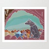 Hyena Dusk Art Print