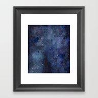 Night Sky Stars Galaxy |… Framed Art Print