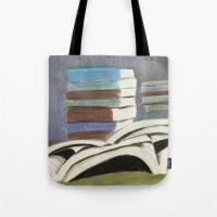 Books - Pastel Illustrat… Tote Bag