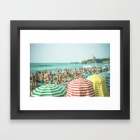 Colorful Holiday Framed Art Print