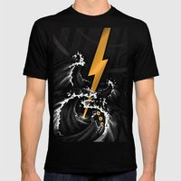 Electric Guitar Storm Mens Fitted Tee Black SMALL