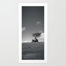 at the meeting place... Art Print