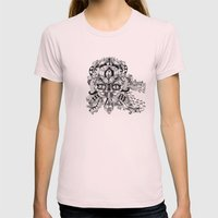 Mask Face Womens Fitted Tee Light Pink SMALL