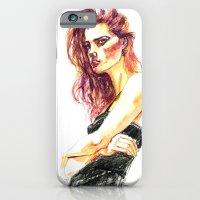 Fashion - Girl In A Blac… iPhone 6 Slim Case