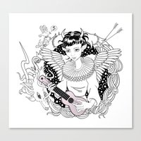 Art Angels Canvas Print