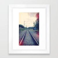 The Track Framed Art Print