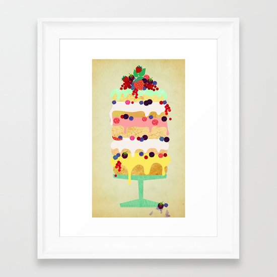 Fairy Cake Framed Art Print