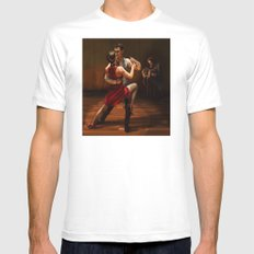 TANGO Mens Fitted Tee White SMALL