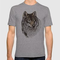 Wolfen Mens Fitted Tee Athletic Grey SMALL