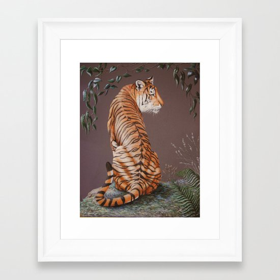 In The Stillness Of The Night  painting Framed Art Print