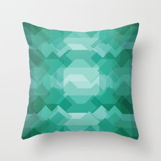 Emerald gem stone Throw Pillow