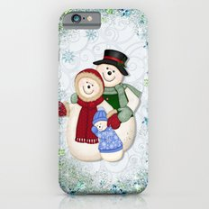 Snowman and Family Glittered iPhone 6 Slim Case