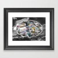 Polygon Heaven Framed Art Print