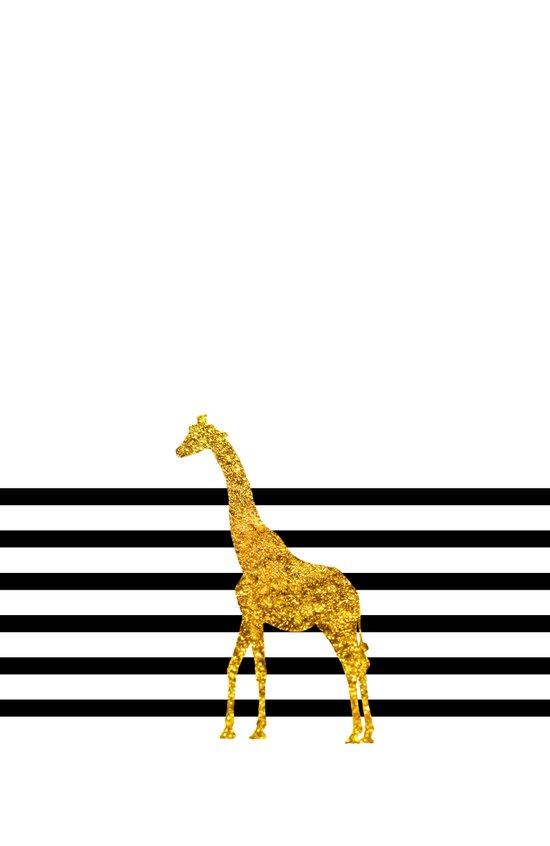 Gold Giraffe Art Print
