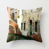 Canal Throw Pillow
