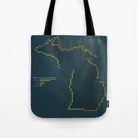MDOT - Michigan Land & Maritime Borders Tote Bag