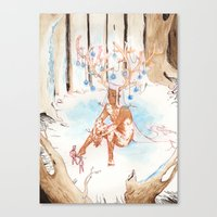 On the Nature of Spirits: Fauna Canvas Print