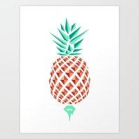 Sobriquet Pineapple. Art Print