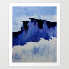 Cold Blue Art Print