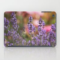 Lavender flowers iPad Case