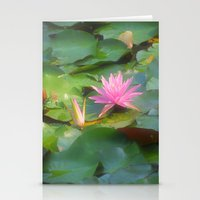 lilly pad Stationery Cards
