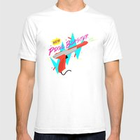 Pixel Blaster Mens Fitted Tee White SMALL