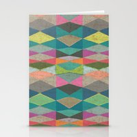 Colorblock Tribal Triangle Pattern Stationery Cards