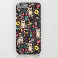 Raccoons bright pattern iPhone 6 Slim Case