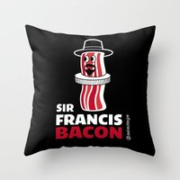 Sir FRANCIS BACON Throw Pillow