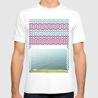 AZTEC 'Beyond The Sea' 1-2 Mens Fitted Tee White SMALL