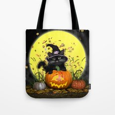 Pumpkin Kitty Tote Bag