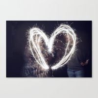 Sparkler Love Canvas Print