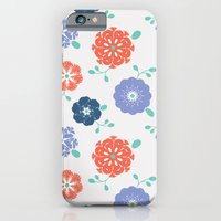 Block Print Flowers iPhone 6 Slim Case