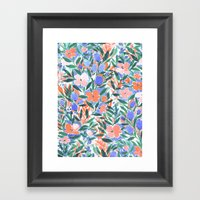 Nonchalant Coral Framed Art Print