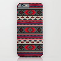 Navajo blanket pattern- red iPhone 6 Slim Case