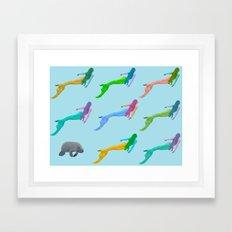 Be Your Kind of Mermaid Framed Art Print